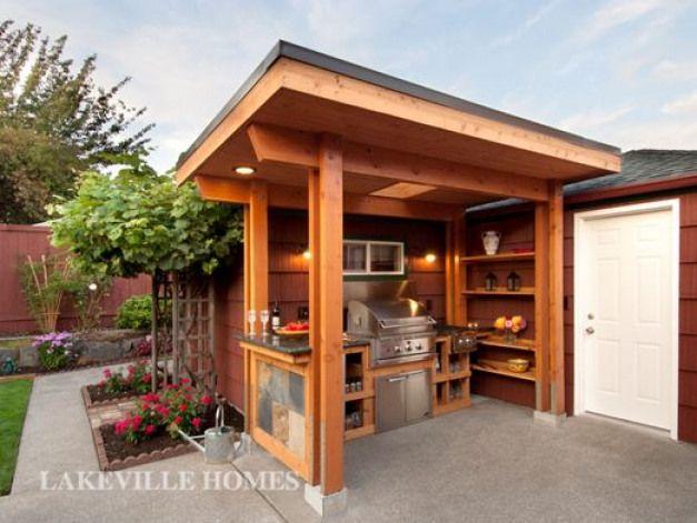 Outdoor Bbq Wood Burner Shelter Garden Outdoorwood Outdoor Bbq Kitchen Bbq Gazebo Grill Gazebo