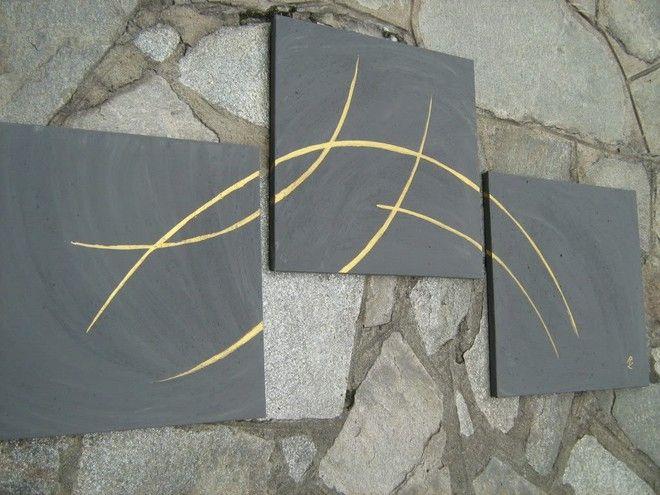 ¯`'•.ASTRATTO.•'´¯) quadro moderno 3 parti,totale 120 cm