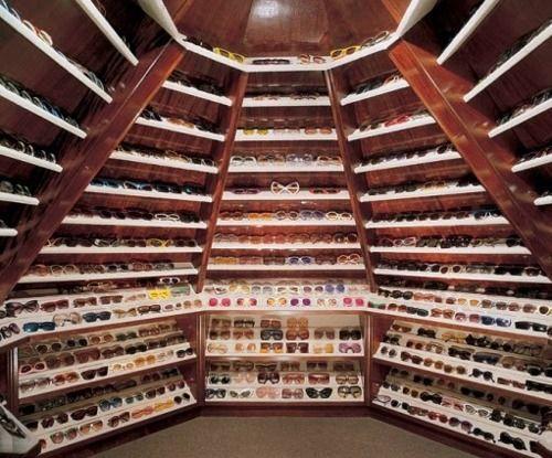Elton John's Sunglasses Closet. This is just way cool.: Dressing Rooms, Sunglasses Closet, John S Sunglasses, Sunglass Closet, Closets, Dream Closet, John S Closet