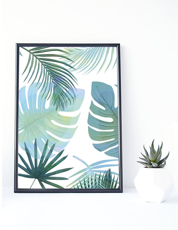 Banana Leaf print, Tropical Art,Instant Download, Palm Print, Tropical Poster,Palm Leaf,Tropical Wall Art, Wall Decor, Leaf Print,Printable by Stamplovesink on Etsy