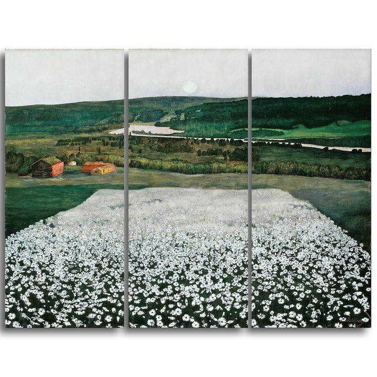 Design Art 'Harald Sohlberg - Flower Meadow in the North' Lansdcape Artwork
