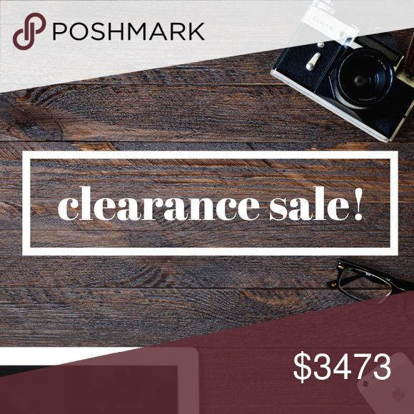 🔥 CLEARANCE SALE - THIS WEEKEND ONLY 🔥 Items on clearance marked with 🔥. Make your purchase while they are at their lowest price! They will be relisted or donated after this weekend. Other