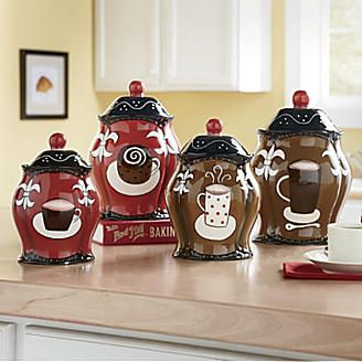 Canisters Coffee Set Of 4 From Kitchen Themeskitchen