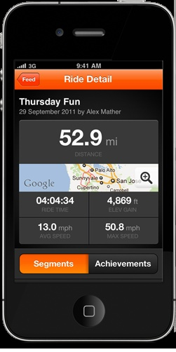 bike tracking app for iphone