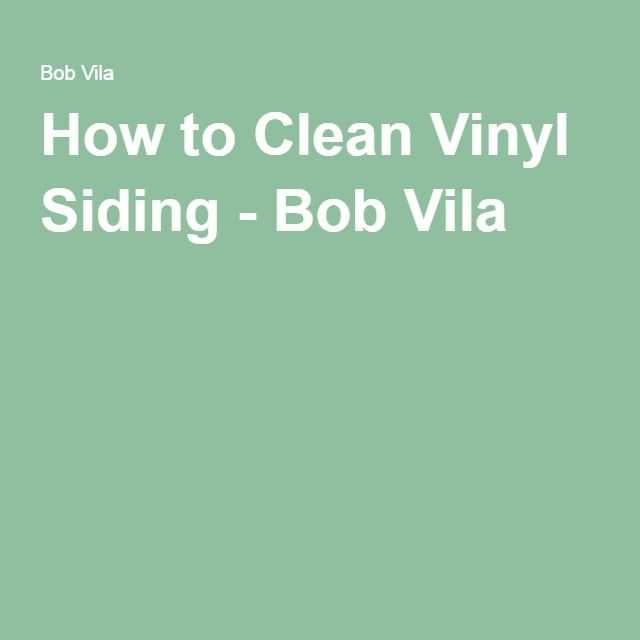How to Clean Vinyl Siding - Bob Vila