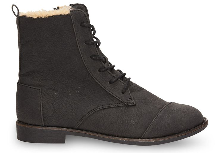 Black Synthetic Leather Women's Alpa Boots