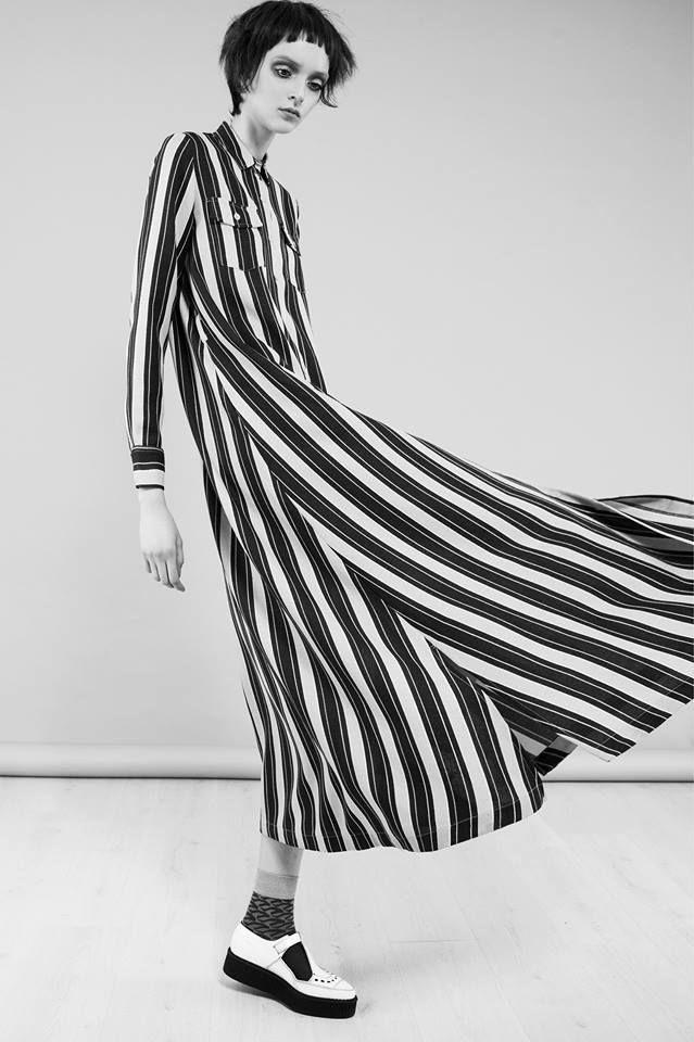 Monochrome Stripes - long striped shirt dress // Ph. Federico Del Bianco