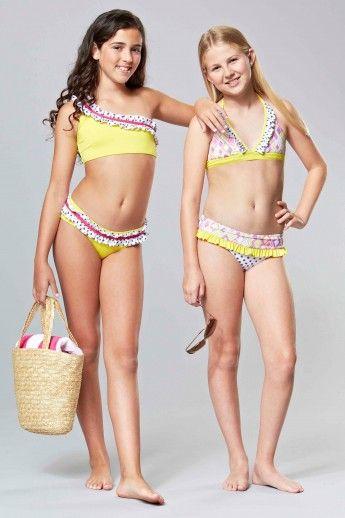 Sweet-Lola-Kids-Polka-Bikini-Yellow