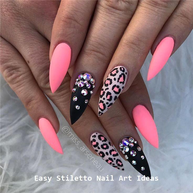 30 große Stiletto Nail Art Design-Ideen #nail – Naildesigns
