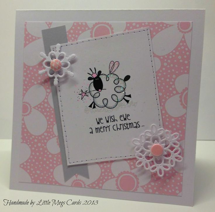 Handmade Christmas card using Pink Petticoat image