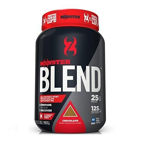 Cytosport Monster Powder Protein Blend Whey Protein Isolate Supplement Mix Chocolate Flavored 2 Pound (About 23-25 Servings)