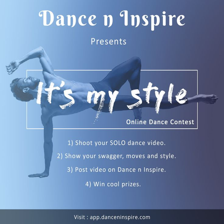 "Online SOLO Dance Contest by Dance n Inspire: ""It's my style"""