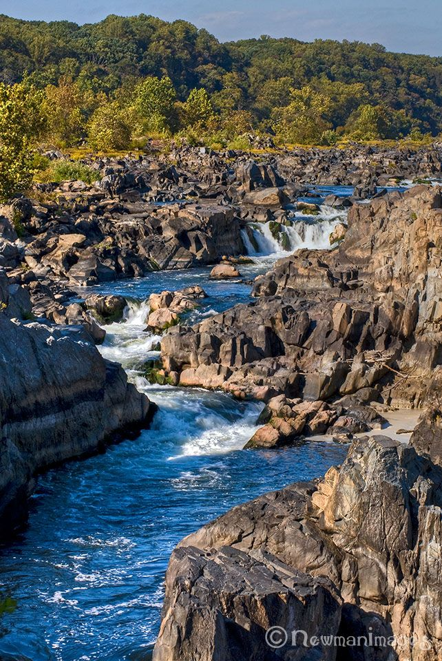 Great Falls Potomac River Which Divides Maryland And Virginia It Looks As If