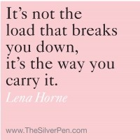 The Way You Carry the Load  by Lena Horne
