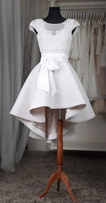 High-low Homecoming Dress Custom Made Wedding Dress Fashion Short Prom Dress YDP0068 7