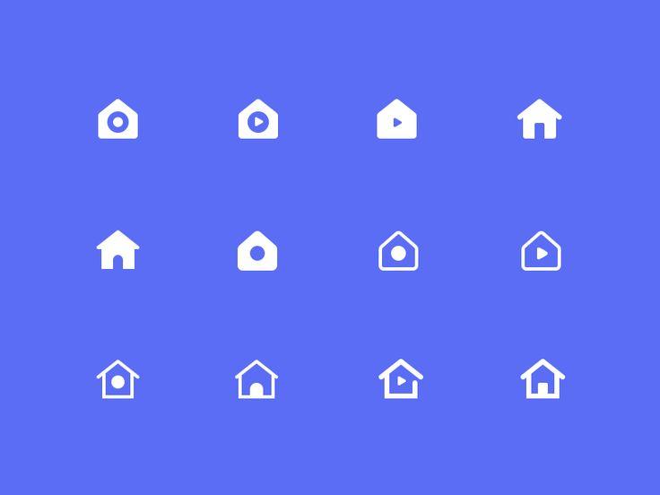 Home Icon Exploration by Martin David - Dribbble