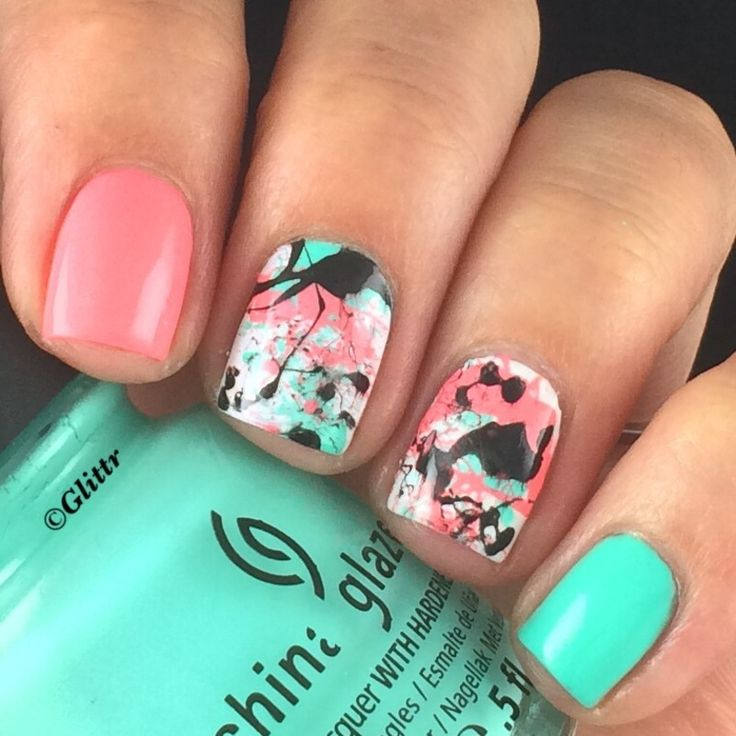Best 25 splatter nails ideas on pinterest diy nails tutorial nailpolis museum of nail art splatter nailart by glittr prinsesfo Image collections