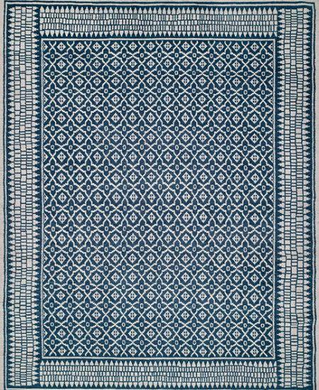 Small Stars Indigo - Custom Tibetan Carpets