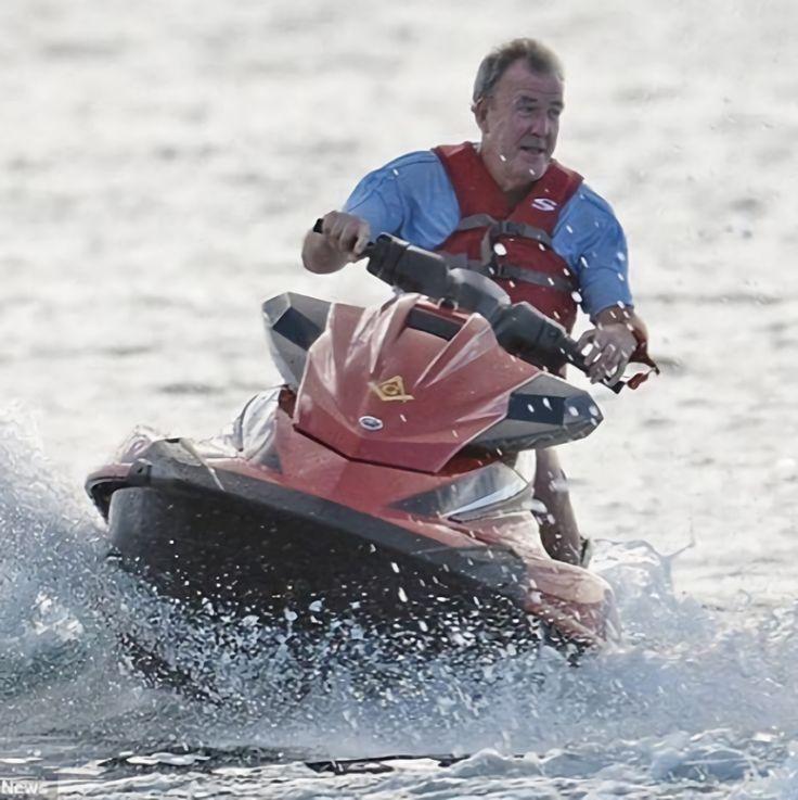 Clarkson On A Jetski