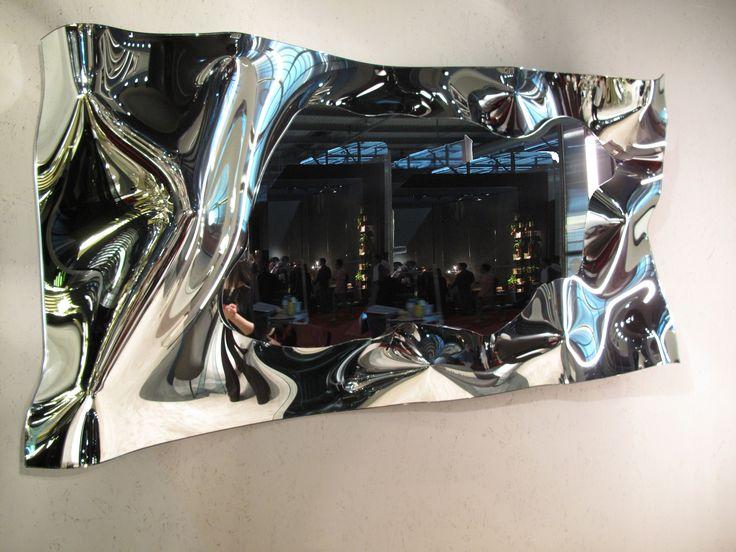 """""""Christine"""" design by Helidon Xhixha - Fiam italia Specchio da parete in vetro fuso e retro argentato Telaio posteriore in metallo verniciato.  #fiamitalia #arredamento #design #beautifull"""