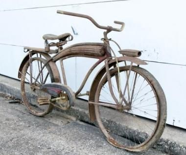 Old Vintage Antique Ludwig Boys Bicycle Bike For Restoration Or