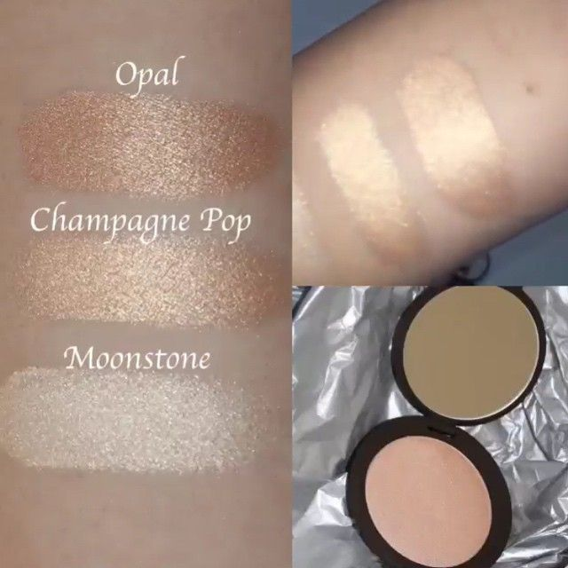 @shanicesl ✨ for more like this  New Champagne Pop BECCAxJaclynHill vs BECCA Moonstone and Opal