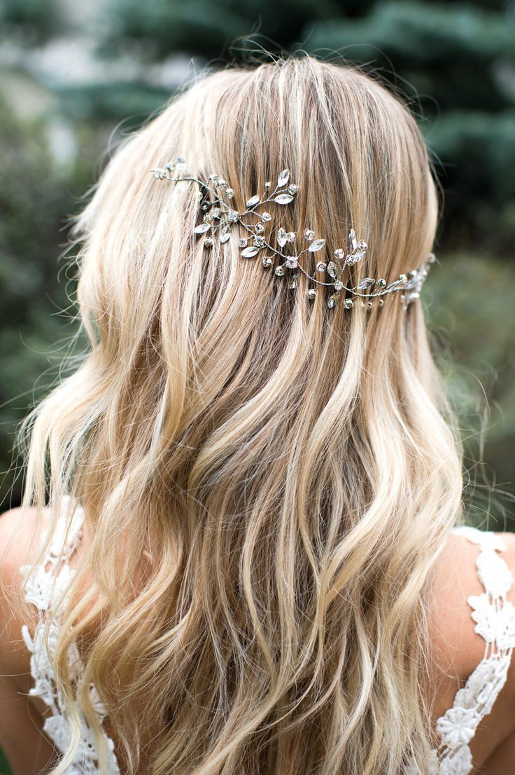 Wedding Hair Vine Bridal Wire Hair Halo Crystal Hair