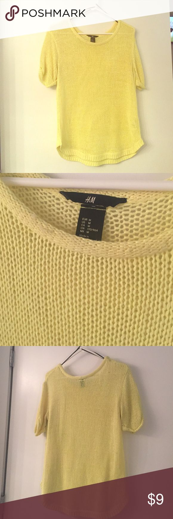 H&M mesh neon yellow top. H&M mesh neon yellow top. Size: M. Woven acrylic. H&M Tops