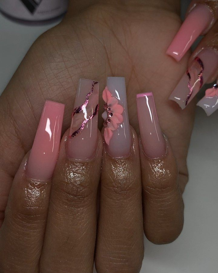 Desteny Jones On Instagram This Was A Freestyle Desdidthat Products Used Valentinobeaut In 2020 Acrylic Nails Cute Acrylic Nail Designs Dream Nails