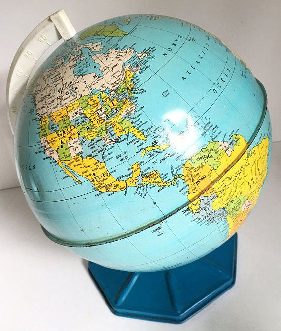Metal World Globe Student World Globe Desktop Globe Bright