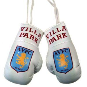 Aston Villa FC. Mini Boxing Gloves by Aston Villa F.C.. $14.49. Mini Boxing Gloves. Approx 9cm x 5cm. Official Licensed Product. Aston Villa F.C.. ASTON VILLA F.C. Mini Boxing Gloves * Approx 9cm x 5cm Official Licensed Product