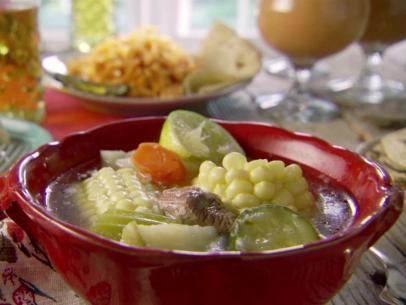 Beef Soup (Caldo de Res) Recipe : Marcela Valladolid : Food Network