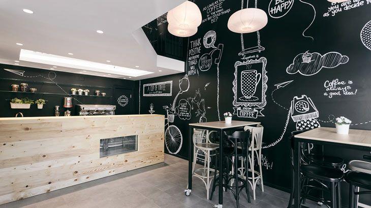 decoracion industrial minimalista CAFETERIAS - Buscar con Google