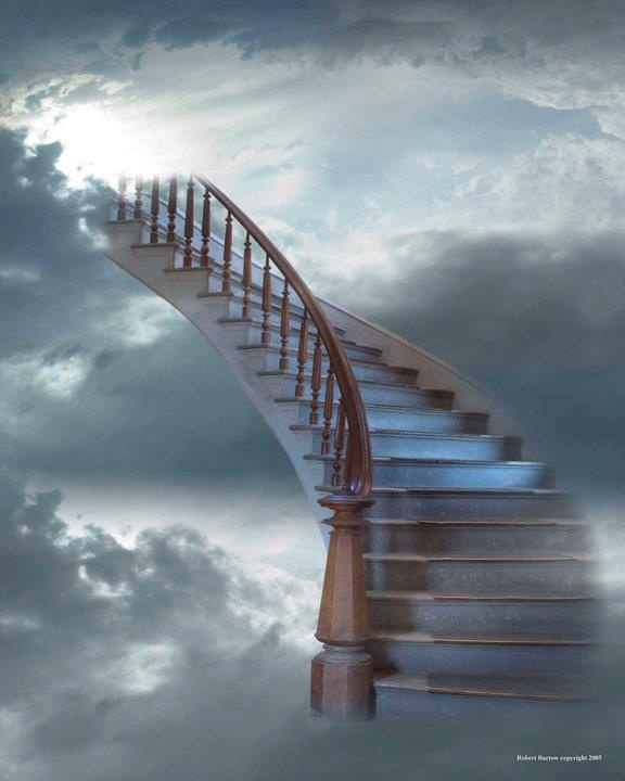 stairs to Heaven .....As we wind on down the road...thinking about a young lady we all knew...from what used to rock but now just rolls....we can't get over losing you ...www.adealwithGodbook.com