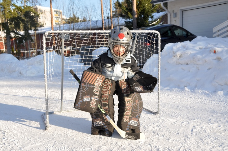 Little icehockey goalie.
