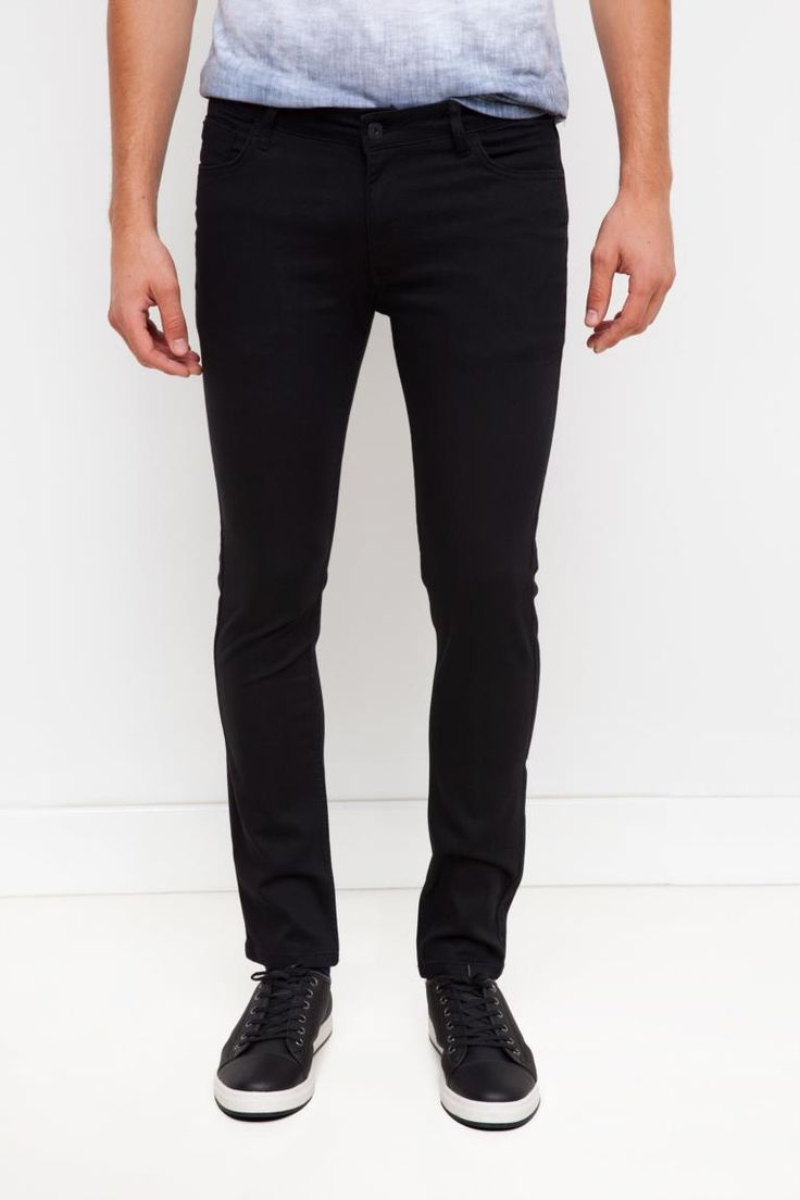DeFacto Siyah Erkek Paco Denim Pantolon 1