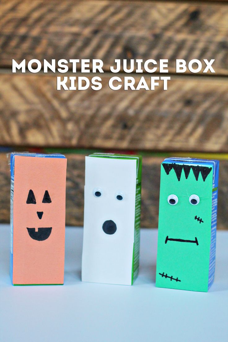 DIY Halloween Juice Boxes  @juicyjuiceusa #partner