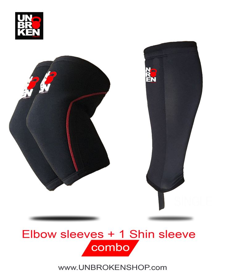 Elbow Sleeves (pair)+ Shin Sleeve (single) Combo sport brace compression compare Rehband Strong man