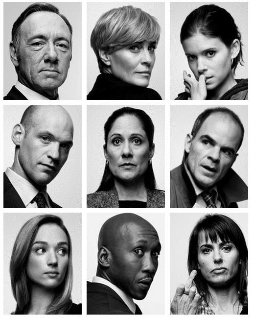 Season 1 House of Cards. Loved this season. Season 2 is wayyyyyyy better! Like I'm having the worst withdrawals after the end of it.