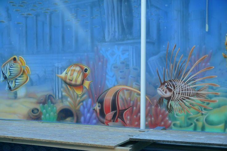 Artystyczne malowanie ścian, malarstwo dekoracyjne, mural, malowidła 3D, fresk, pokoje dziecięce: Aranżacja basenu