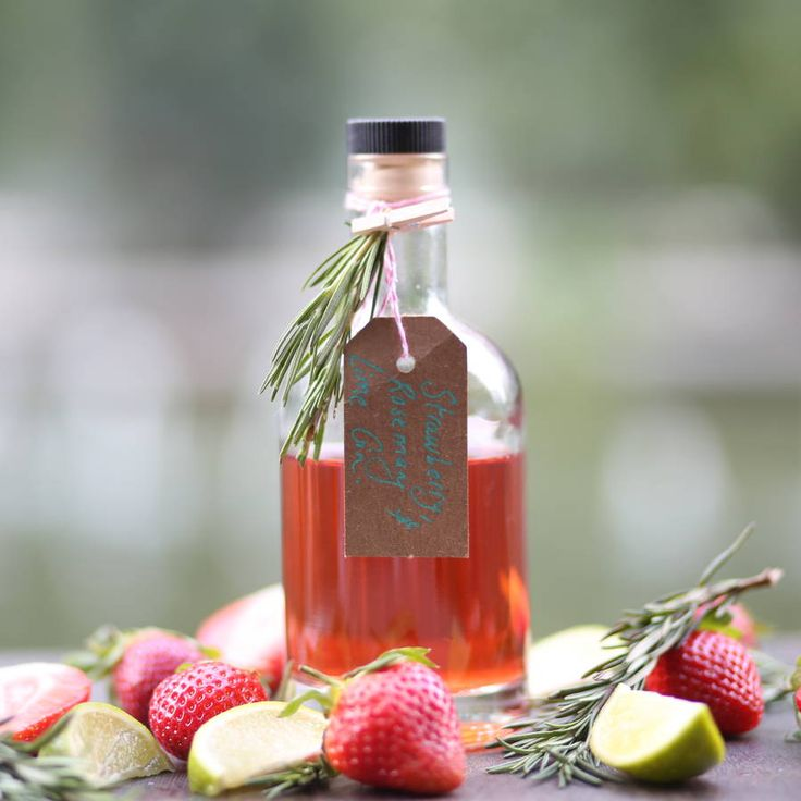 Strawberry, Rosemary And Lime Gin - A fruity twist on an old favourite