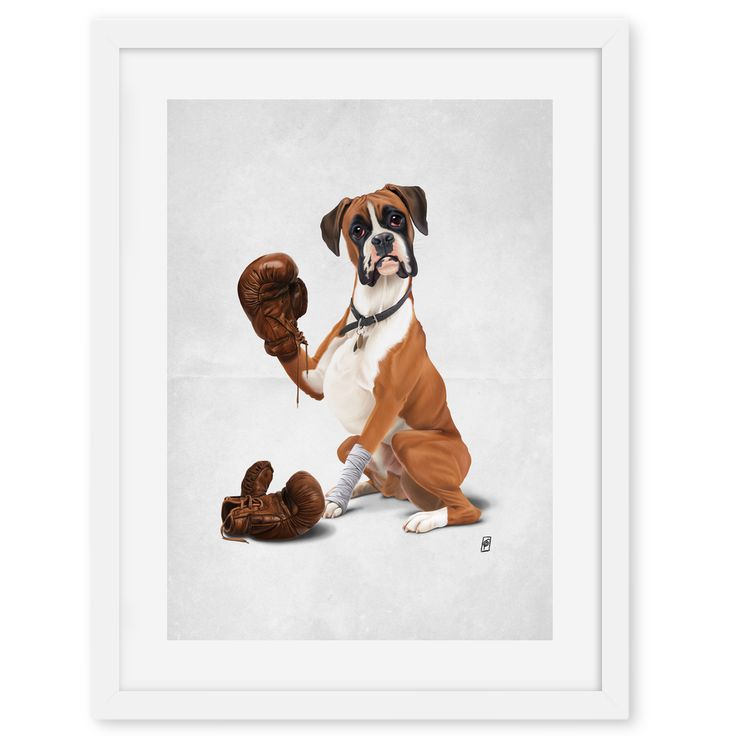The Boxer (Wordless) art | decor | wall art | inspiration | animals | home decor | idea | humor | gifts