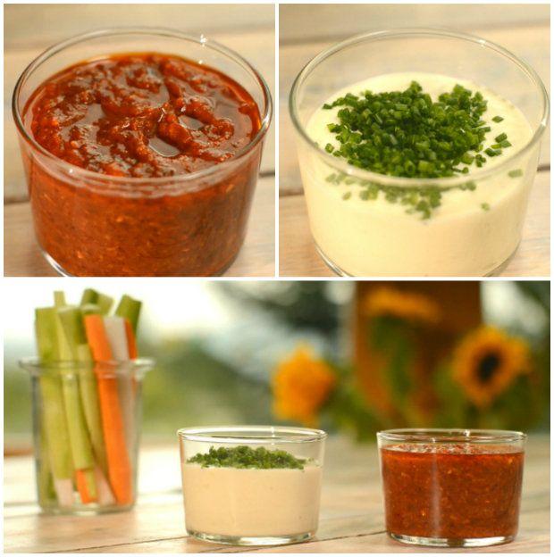 Dip z pečeného česneku a Bloody Mary