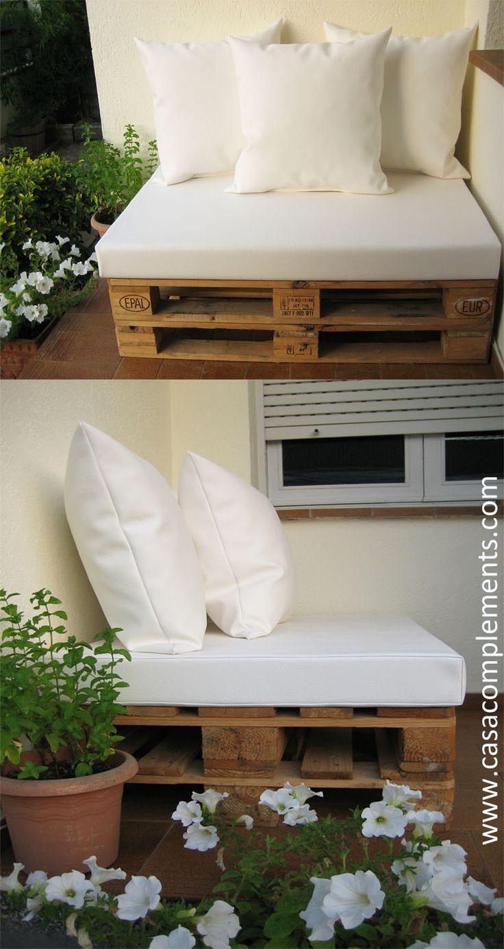 Cojines para sof de palet asientos 120 x 80 x 12 cm - Cojines para terraza ...