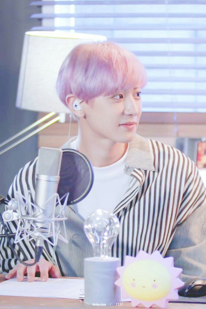 "[170712] [V Live] #Chanyeol at Lee Dong Wook's ""On The Air"""