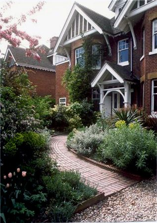 Front garden I designed for an Edwardian house in Woking. Paving by Stonemarket www.stonemarket.co.uk www.judithsharpegardens.co.uk