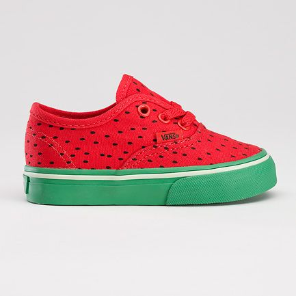 Watermelon Authentic for Toddlers by Vans: $27 I don't think Ryan's daddy would appreciate these! lol                                                                               More