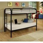 Thomas Twin Over Twin Metal Bunk Bed, Black