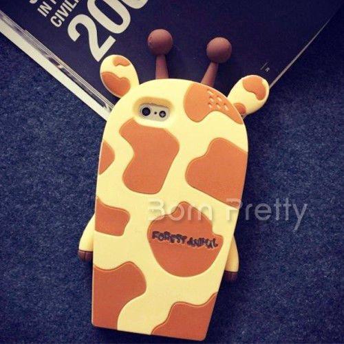 Mignon-Girafe-Cover-Case-for-iPhone-6-Plus-Cartoon-Silicone-Soft-Coque-etui