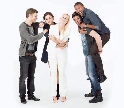 Cast of The Originals - Joseph Morgan, Phoebe Tonkin, Claire Holt, Daniel Gillies, and Charles Michael Davis